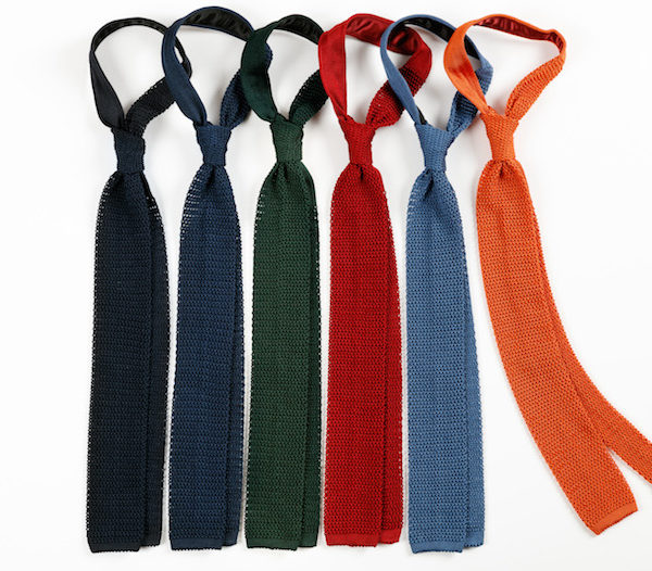 Robert Kerr silk knitted tie collection- RK diary