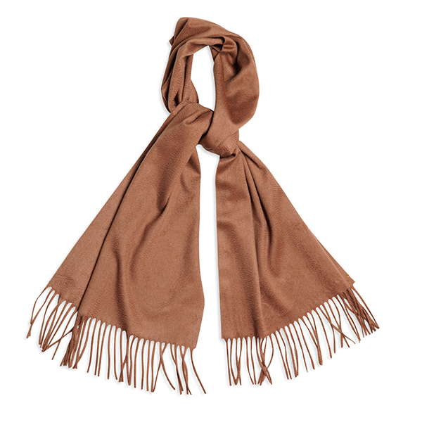 91623b115 Light brown pure cashmere scarf woven in Italy