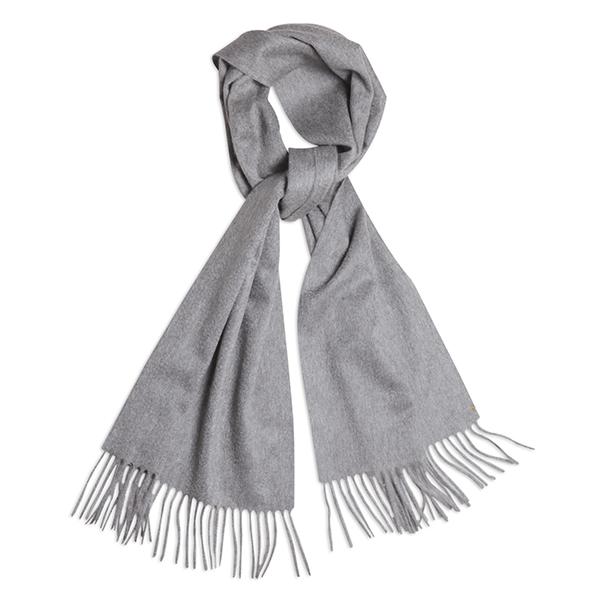 Écharpe gris clair en pur cachemire tissée en Italie 870da22be5a