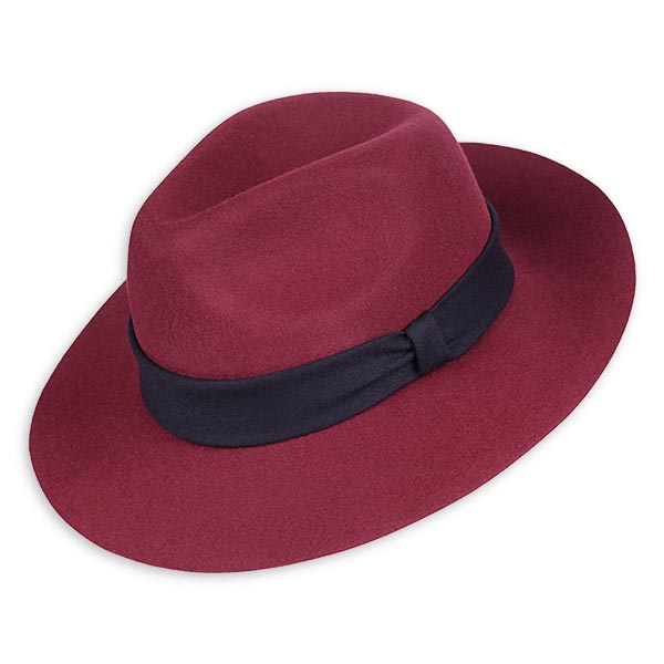 ad513b4e1 Burgundy pure rabbit hat- handmade in France